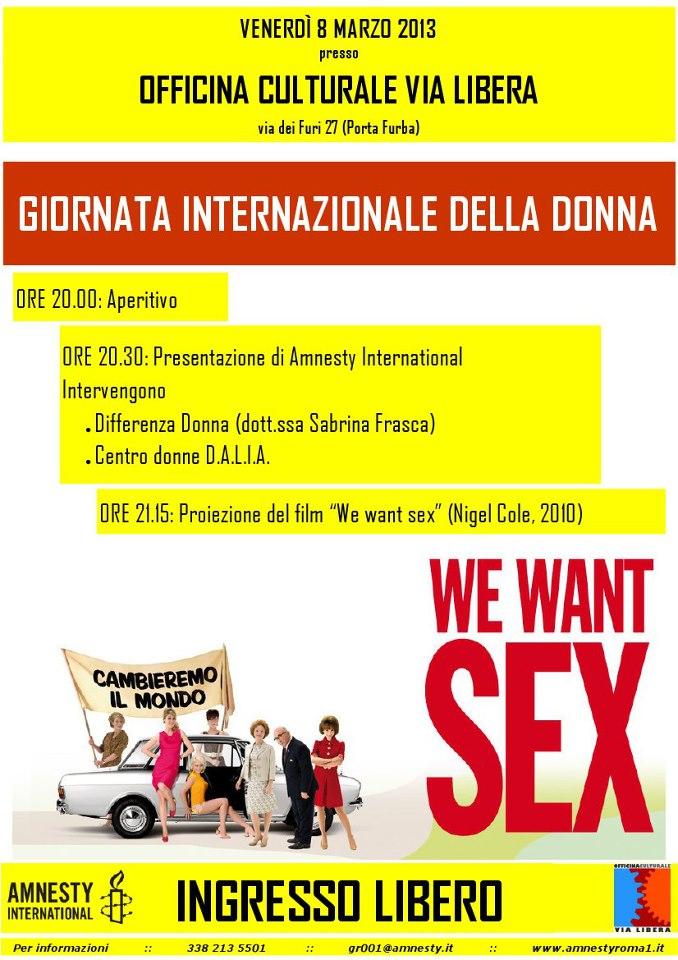 Giornata Internazionale della Donna con Amnesty