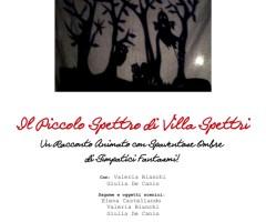 Sabato 25 gennaio 2014 IL PICCOLO SPETTRO DI VILLA SPETTRI – spettacolo per bambini