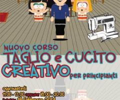 dal 25 FEBBRAIO 2014 NUOVO CORSO DI TAGLIO E CUCITO CREATIVO per principianti