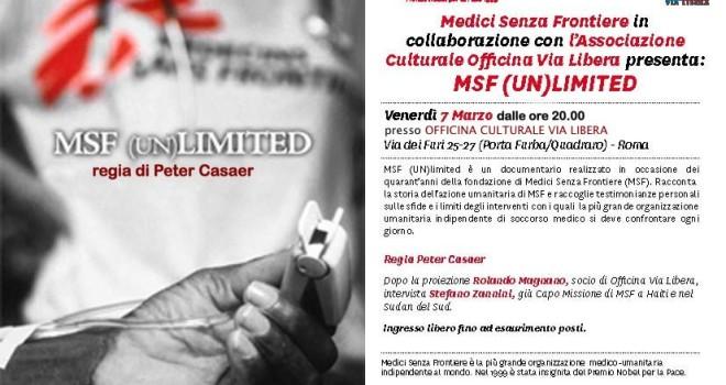 Venerdì 07 marzo 2014 con MEDICI SENZA FRONTIERE – (UN)LIMITED – regia di Peter Casear