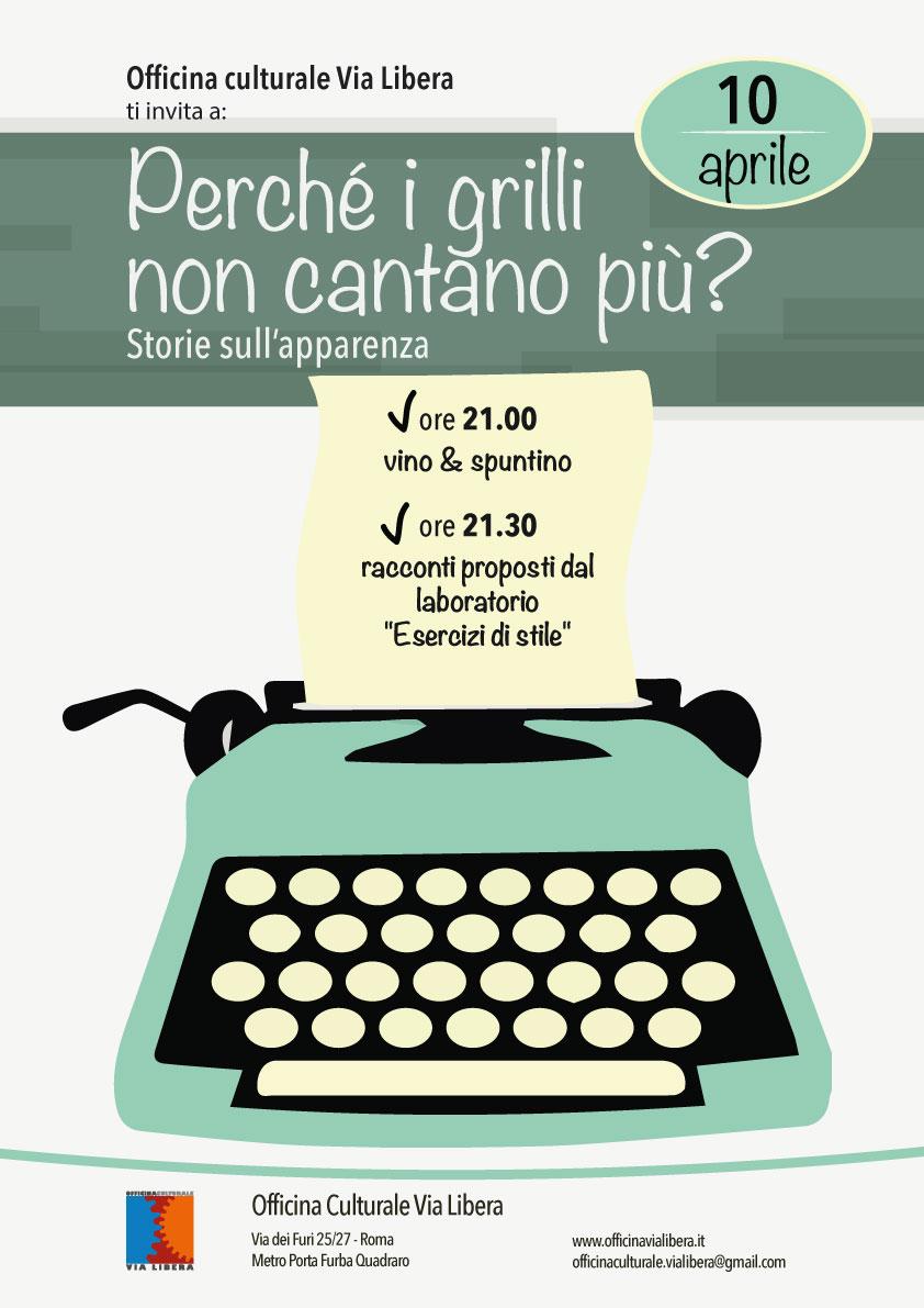 Gioved 10 aprile 2014 perch i grilli non cantano pi for Grilli arredamenti roma