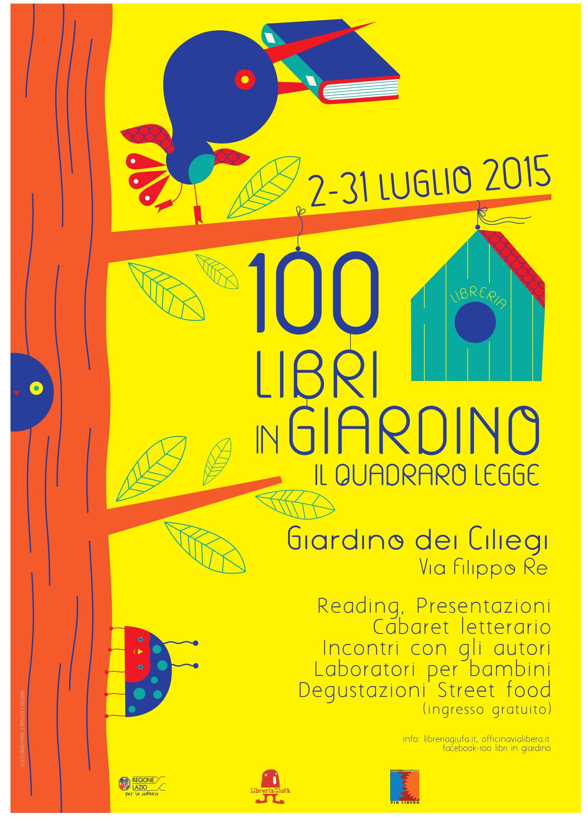 100 libri in giardino il quadraro legge officina for Il giardino dei libri