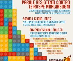 PAROLE RESISTENTI CONTRO LE RUSPE MANGIASOGNI – campagna per la ricostruzione di SCUP