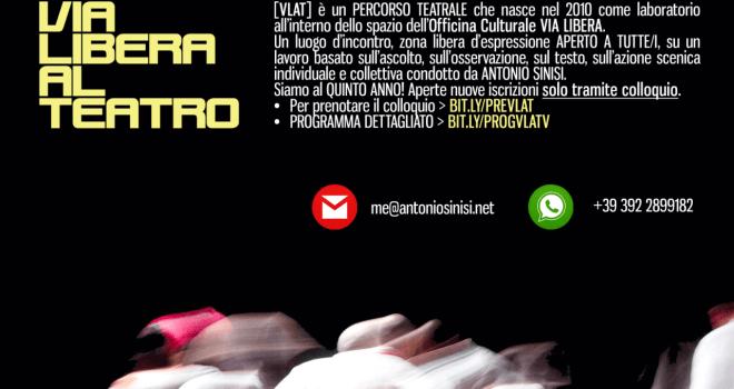 Vanity VLAT – Via Libera Al Teatro – V edizione – laboratorio teatrale condotto da Antonio Sinisi