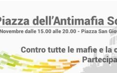 Sabato 7 nov ci siamo anche noi in PIAZZA DELL'ANTIMAFIA SOCIALE  dalle 15 in Piazza San Giovanni Bosco