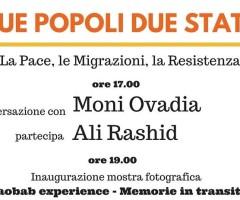 giovedì 24 Marzo – Due popoli, due stati  – La pace, la migrazione, la resistenza