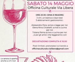 Sabato 14 maggio 2016 – IL VINO RACCONTA Il vino e le storie, il cibo e la resistenza