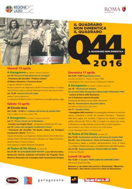 Q44 - programma del 2016