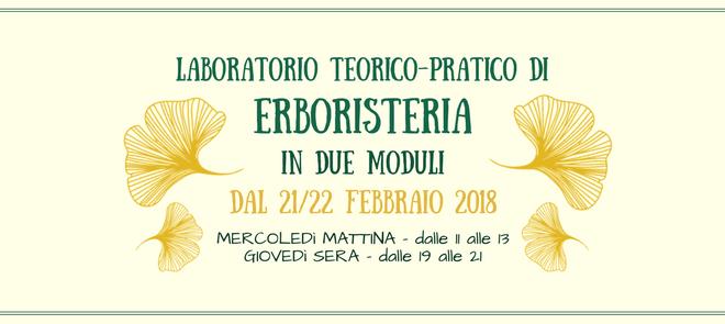 Laboratorio teorico-pratico di ERBORISTERIA  in 2 moduli dal 22 febbraio