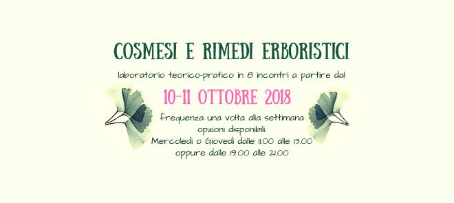 Autoproduzione di cosmesi e rimedi erboristici – Laboratorio teorico-pratico dal 10-11 ottobre