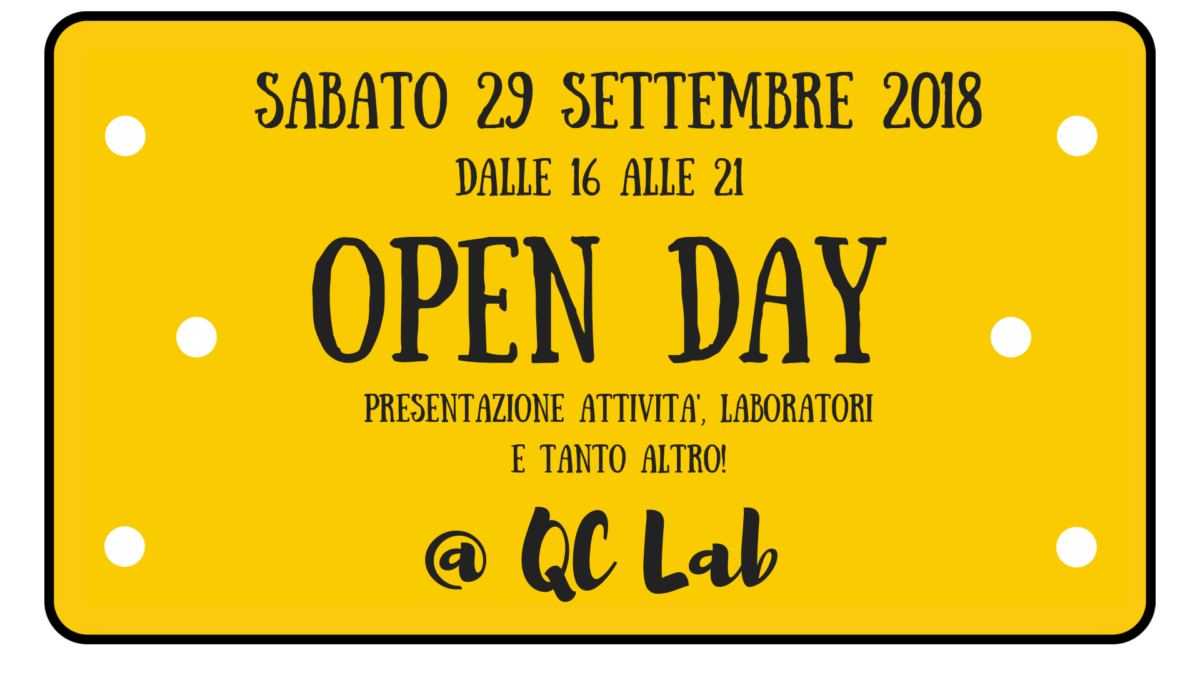 OPEN DAY QC LAB 2018