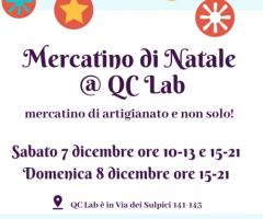 QC Lab BAZAR – mercatino di artigianato e non solo! 7-8 dicembre 2019