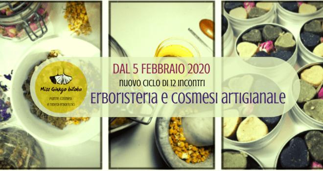 Laboratorio di cosmesi e rimedi erboristici artigianali dal 5 febbraio 2020